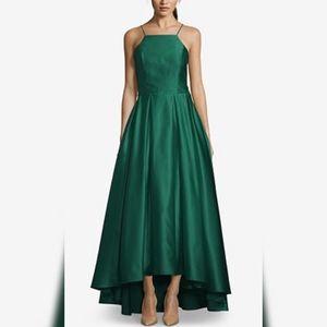 Green Satin Betsy & Adam Dress